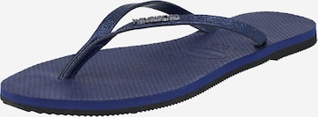 HAVAIANAS T-Bar Sandals 'YOU SHINE' in Blue