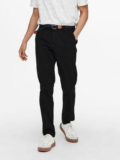 Only & Sons Chinohose in schwarz, Modelansicht