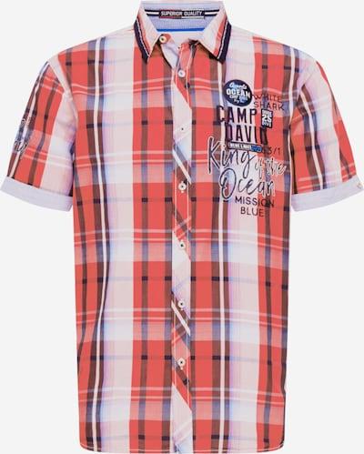 CAMP DAVID Košeľa - kráľovská modrá / černicová / oranžovo červená / biela, Produkt