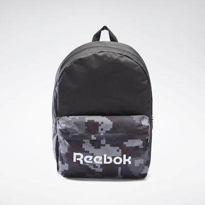 REEBOK Sportrugzak in de kleur Lichtgrijs / Donkergrijs / Zwart / Wit, Productweergave