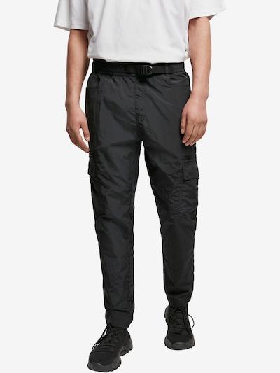 fekete Urban Classics Cargo nadrágok 'Adjustable', Modell nézet