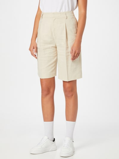 Gina Tricot Plisované nohavice 'Caroline' - béžová, Model/-ka