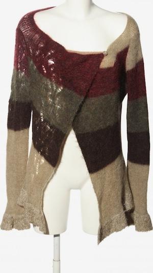 sarah pacini Strickwickeljacke in XS-XL in pastellgelb / khaki / rot, Produktansicht