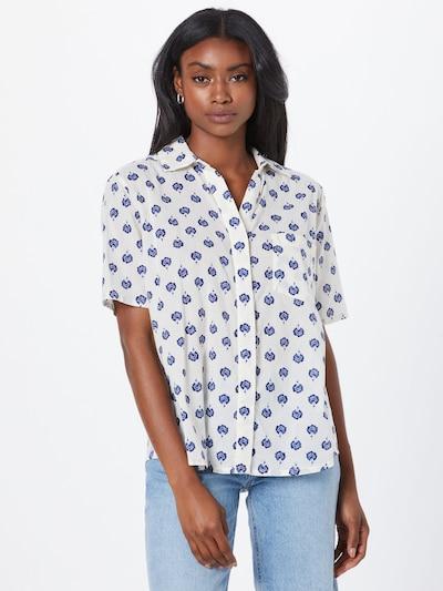 Masai Bluse 'Ibana' in dunkelblau / weiß, Modelansicht