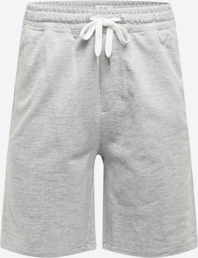 Q/S designed by Pantalon en gris clair / blanc, Vue avec produit