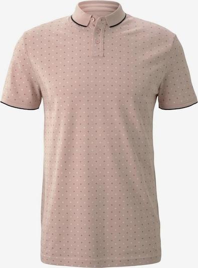 TOM TAILOR DENIM Poloshirt in beige / schwarz / weiß, Produktansicht