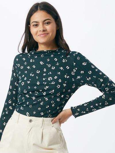 Marškinėliai iš TOM TAILOR DENIM , spalva - žalia / balta, Modelio vaizdas