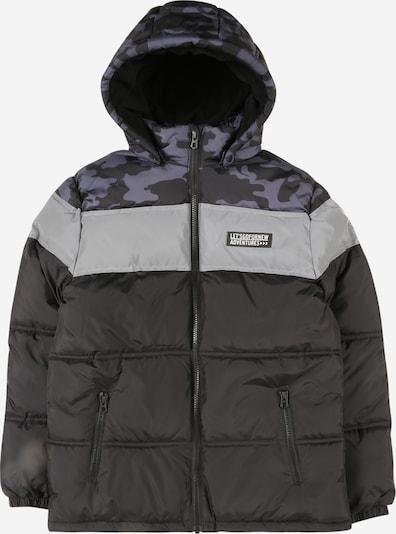 NAME IT Chaqueta de invierno en petróleo / negro / plata, Vista del producto