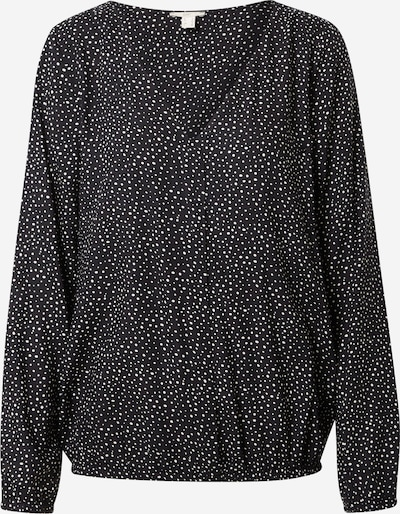 EDC BY ESPRIT Blusa en negro / blanco, Vista del producto