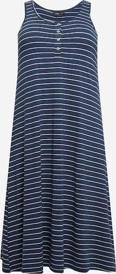 Zizzi Kleid 'FREJA' in nachtblau / weiß, Produktansicht
