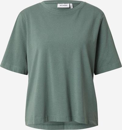 WEEKDAY Μπλουζάκι σε πράσινο παστέλ, Άποψη προϊόντος