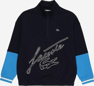 LACOSTE Sweatshirt in navy / türkis / weiß, Produktansicht