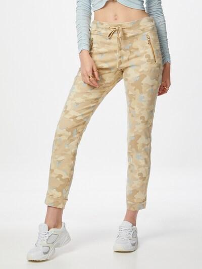 MOS MOSH Trousers 'Lucie Levon' in Beige / Dark beige / Light blue, View model
