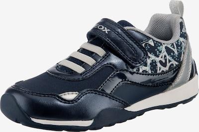 GEOX Kids Sneaker in dunkelblau / schwarz / silber, Produktansicht