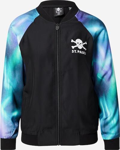 Jachetă de trening FC St. Pauli pe turcoaz / lila / negru / alb, Vizualizare produs