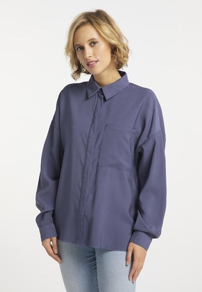 usha BLUE LABEL Bluse in taubenblau, Modelansicht