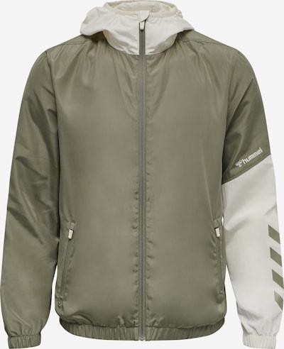 Hummel Sportjacke 'Sullivan' in creme / khaki / dunkellila, Produktansicht