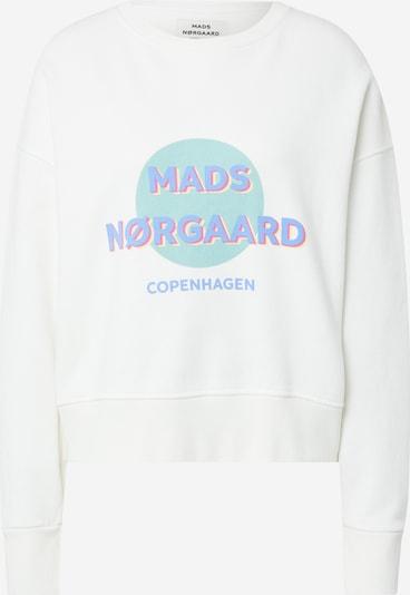 MADS NORGAARD COPENHAGEN Sweat-shirt 'Tilvina' en turquoise / bleu roi / blanc, Vue avec produit