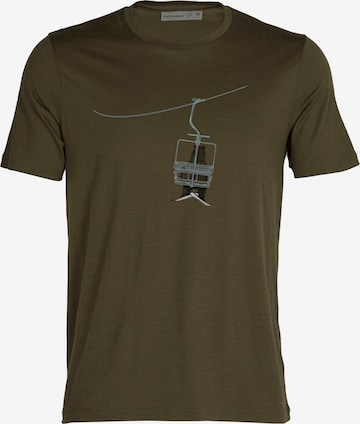 zaļš ICEBREAKER Sporta krekls 'Bear Lift'