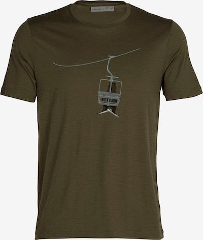 Tricou funcțional 'Bear Lift' ICEBREAKER pe gri închis / kaki, Vizualizare produs