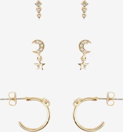 PIECES Ohrringe in gold / weiß, Produktansicht