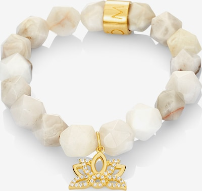 MOSUO JEWELLERY Bracelet 'Lotus' in beige / gold, Item view