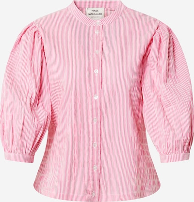 MADS NORGAARD COPENHAGEN Blouse 'Sigga' in de kleur Pink / Wit, Productweergave