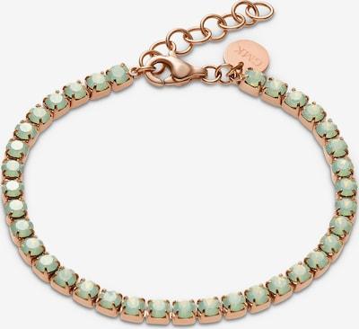 Guido Maria Kretschmer Jewellery Armband in rosegold / grün, Produktansicht