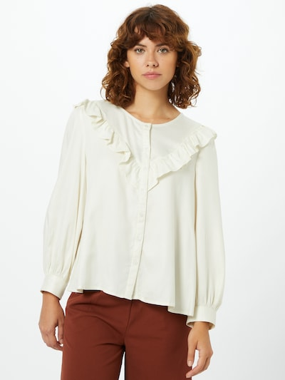 ONLY Blouse in de kleur Crème, Modelweergave
