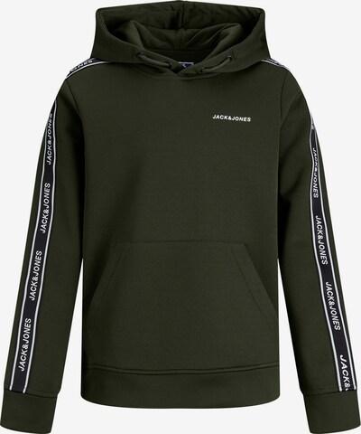 Jack & Jones Junior Sweatshirt in de kleur Donkergroen / Wit, Productweergave