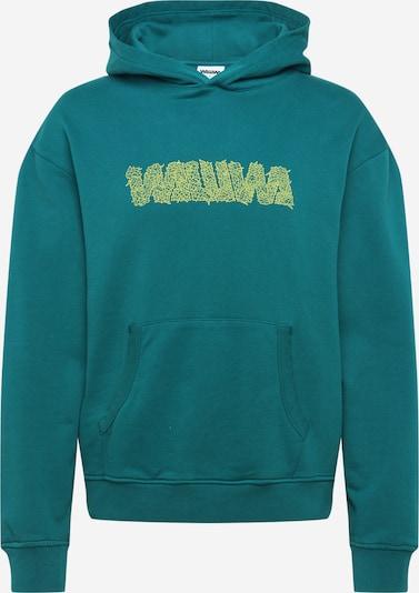 WAWWA Sweat-shirt en citron vert / pétrole, Vue avec produit