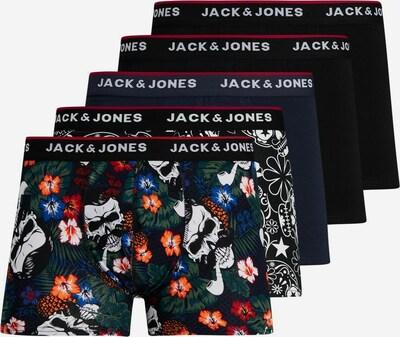 JACK & JONES Boxershorts in navy / nachtblau / orange / schwarz / weiß, Produktansicht