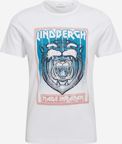 Lindbergh Shirt in blaumeliert / altrosa / schwarz / offwhite, Produktansicht