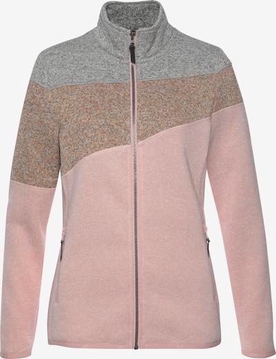 ICEPEAK Fleecejacke 'Altoona' in braunmeliert / graumeliert / rosa, Produktansicht