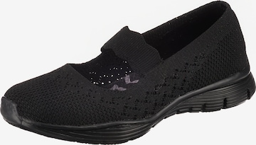 SKECHERS Ballet Flats with Strap in Black