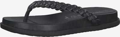 Flip-flops TAMARIS pe negru, Vizualizare produs