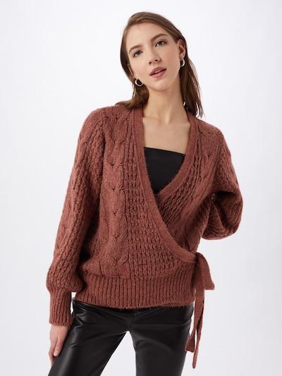 Cream Knit Cardigan 'Lorelai' in Pitaya, View model