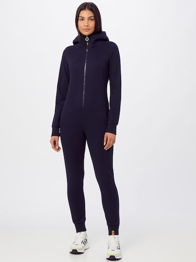 Fli Papigu Jumpsuit 'That Pretty Barmaid' in dunkelblau, Modelansicht