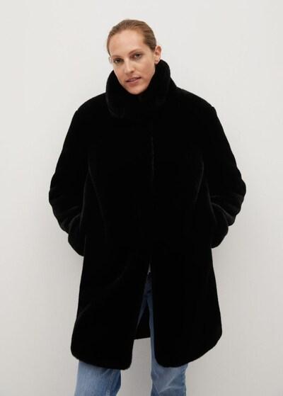 MANGO Mantel 'Chillyn' in schwarz, Modelansicht