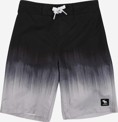 Abercrombie & Fitch Badeshorts in grau / schwarz, Produktansicht