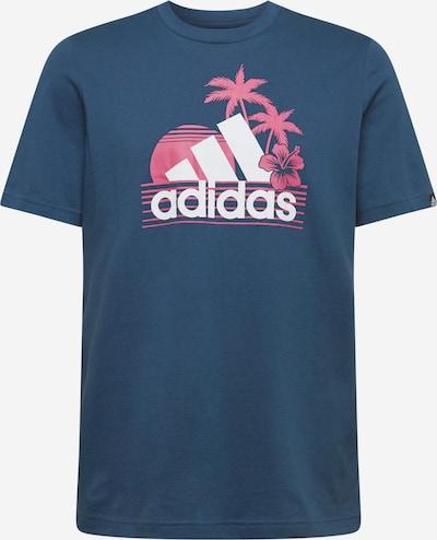 ADIDAS PERFORMANCE Sporta krekls tumši zils / rozā / balts, Preces skats