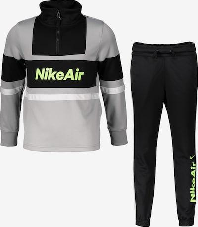 Nike Sportswear Trainingsanzug in grau / schwarz, Produktansicht