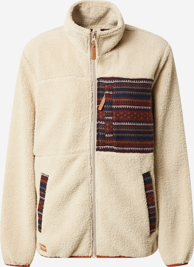 Iriedaily Fleece Jacket 'Arkta' in Cream / Dark blue / Light brown / Rusty red / White, Item view