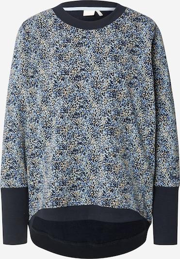 Bluză de molton 'NICOLA' NÜMPH pe safir / azuriu / albastru deschis / portocaliu deschis, Vizualizare produs