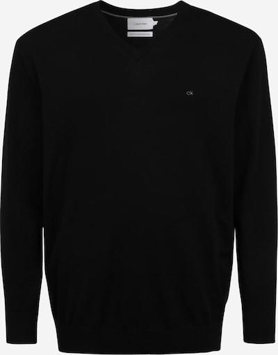 Calvin Klein Big & Tall Pull-over en noir, Vue avec produit