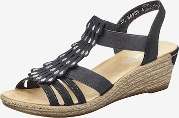 RIEKER Strap Sandals in Blue