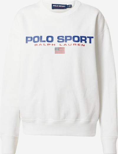 POLO RALPH LAUREN Sweat-shirt en bleu-gris / rouge / blanc, Vue avec produit