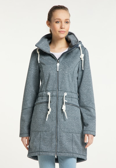 ICEBOUND Functionele mantel in de kleur Duifblauw, Modelweergave