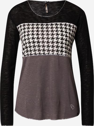 Key Largo Shirt in braun / schwarz / weiß: Frontalansicht