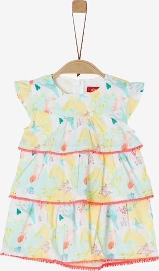 s.Oliver Stufenkleid in gelb / grün / orange / weiß, Produktansicht